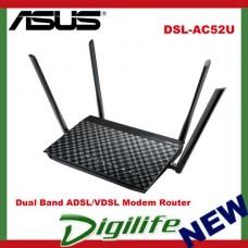 ASUS DSL-AC52U AC750 Dual Band 802.11ac Wi-Fi ADSL/VDSL (FTTN) Modem Router