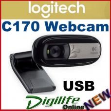 Logitech C170 Webcam USB with MIC Universal clip, VGA-quality video, 5MP Photos