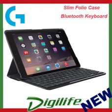 "Logitech Slim Folio Case Bluetooth Keyboard for iPad 9.7"" (2017 Release) Black"