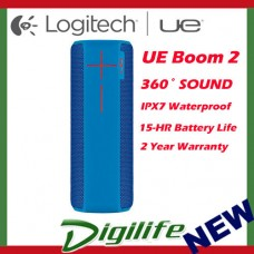 LOGITECH Ultimate Ears UE BOOM 2 Bluetooth WIRELESS Speaker WATERPROOF BLUE