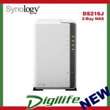 "Synology DiskStation DS216J 2-Bay 3.5"" Diskless NAS Server RAID Storage USB3.0"