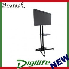 "Brateck Portable TV Cart with Roller for LCD Screen Size 37"" – 70"" T1021B"