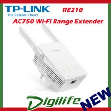 TP-Link RE210 AC750 WiFi Range Extender Gigabit Ethernet Bridge Dual Band
