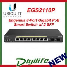 ENGENIUS 8-PORT GIGABIT POE SMART SWITCH W/ 2 SFP EGS2110P for Ubiquiti