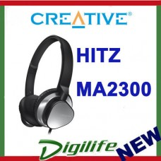 Creative Hitz MA2300 Premium Wired Headset Silver/Black Inline Control On-ear