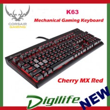 Corsair Gaming K63 Compact Mechanical Gaming Keyboard - Cherry MX Red