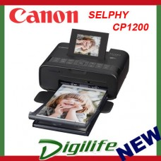 Canon Selphy CP1200 Portable Wireless Color Photo Wi-fi Printer AirPrint Black