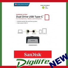 SanDisk 128GB Ultra Dual USB 3.1 Flash Drive Type-A and Type-C - 150MB/s
