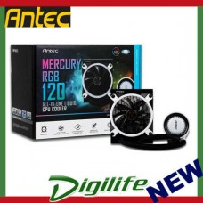 Antec MERCURY 120 RGB Liquid CPU Cooler, Large Pump, Efficient PWM Radiator Fan