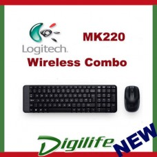 Logitech MK220 Wireless Combo Desktop Keyboard & Mouse 2.4Ghz