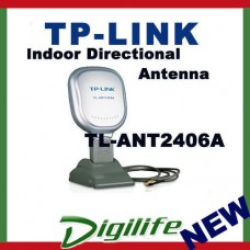 TP-LINK TL-ANT2406A 2.4GHz 6dBi Indoor Desktop Directional Antenna, 1.3m Cable