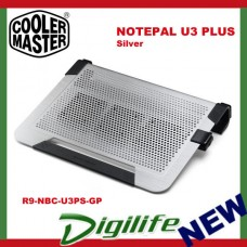 Cooler Master Notepal U3 Plus Laptop Notebook Cooling Pad Silver coolermaster