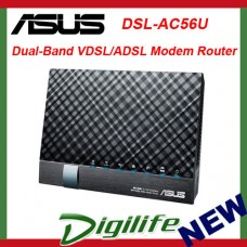 ASUS DSL-AC56U AC1200 Dual Band 802.11ac VDSL/ADSL Wireless Modem Router