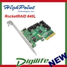 HighPoint Rocket Raid 640L Controller, PCI-E 2.0 x 4 RAID 0,1,5,10,JBOD RR640L