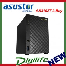 Asustor AS3102T 2 Bay Diskless Desktop NAS 1.6GHz CPU 2GB RAM