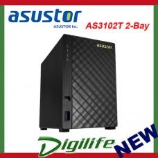 Asustor AS3102T 2 Bay Diskless Desktop NAS 1.6GHz CPU 2GB RAM