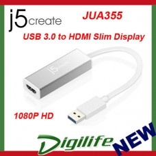 j5create JUA355 USB 3.0 HDMI SLIM Display Adapter 1080P HD