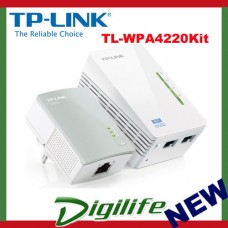 TP-LINK TL-WPA4220KIT 300Mbps AV500 WiFi Powerline Extender Starter Kit