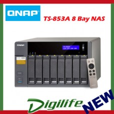 QNAP TS-853A-4G, NAS, 8 BAY (NO DISK), 8GB, CEL QC-1.6GHz,USB, GbE(4), TWR, 2YR