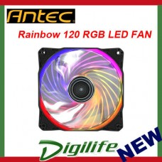 Antec Rainbow 120mm RGB LED PC Case Fan Gaming