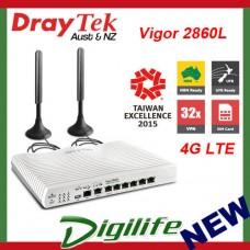 DrayTek Vigor 2860L 4G LTE VDSL2/ADSL2+ Gigabit WAN VPN Firewall Router DV2860L