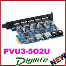 ORICO PVU3-5O2U Desktop 5 Port +2 Port High Speed USB3.0 PCI-Express