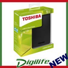 "Toshiba Canvio Basics 1TB 2.5"" USB 3.0 Portable External Hard Drive Black"