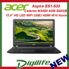 "Acer Aspire ES1-533-C57P N3450 4GB 500GB 15.6"" WiFi USB3 HDMI Win10H Laptop"