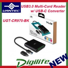 Vantec External USB 3.0 Multi Card Reader/Writer w/ USB-C Converter