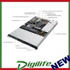 "ASUS RS300-E9-RS4 1RU Server Barebone, E3 Socket, 4 x 3.5"" HS HDD, 480w RPSU 1+1"