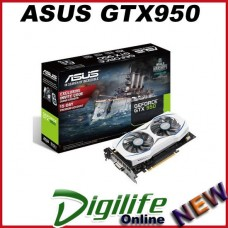 ASUS NVIDIA GeForce GTX 950 2GB GDDR5 PCI-E Video Card DVD/HDMI/DISPLAYPORT