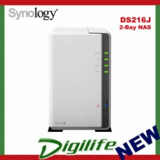 Synology DiskStation DS218j 2 Bay NAS Dual Core CPU 512MB RAM - Diskless