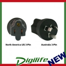 InLine North America US 3-pin to Australia Power Adapter Plug PA-3515