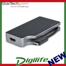 Startech USB-C Multiport Video Adapter - 4-in-1 - 95W Power Delivery Space Gray