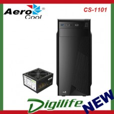 AEROCOOL CS-1101 Mid Tower Case USB 3.0 x 1, USB2.0 x 2 HD audio + Mic Rear 80mm