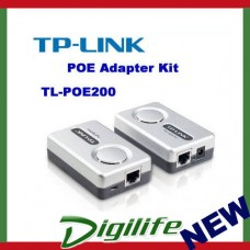 TP-Link TL-POE200 Power Ethernet Adapter Kit-1 Injector & 1 Splitter 100 meters