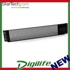 StarTech 2U Hinged & Vented Blank Rack Panel Server Rack Blanking / Filler Panel