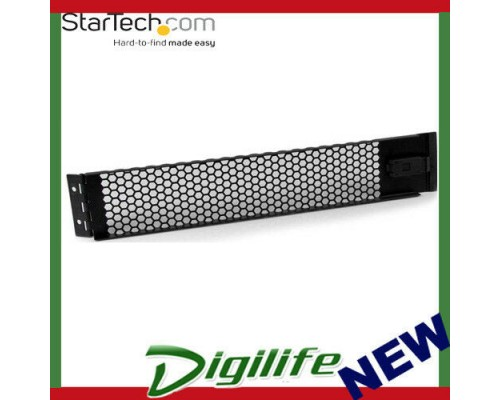 StarTech 2U Hinged & Vented Blank Rack Panel Server Rack Blanking / Filler Panel