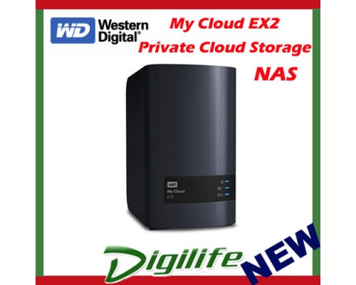 Western Digital WD My Cloud EX2 6TB 2-Bay NAS Personal Cloud Storage