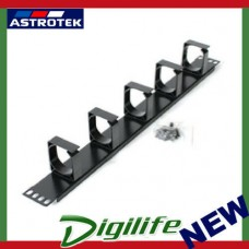 Astrotek 1U Rack Mount Cable Management Metal Panel