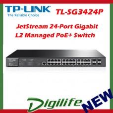 TP-LINK TL-SG3424P JetStream 24-Port Gigabit L2 Managed PoE+ Switch 4 SFP