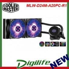Cooler Master MasterLiquid ML240L RGB CPU Cooler; RGB via controller or MB sync