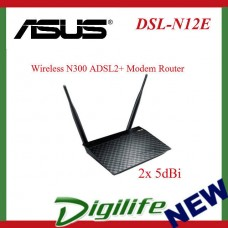 ASUS DSL-N12E Wireless N300 ADSL2+ Modem Router, Energy Saving, 2x 5dBi