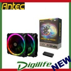Antec Prizm 140 ARGB 2+C 140mm Dual Pack RGB Dual Ring PWM Fan w/ Fan Controller