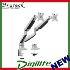 Brateck Dual Aluminium Interactive Counterbalanced Monitor Arm - fits 13''-32''