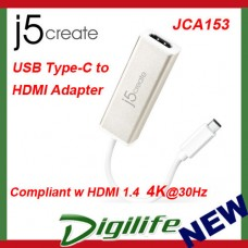 j5create JCA153 USB Type-C to 4K HDMI Adapter USB-C for Apple Macbook