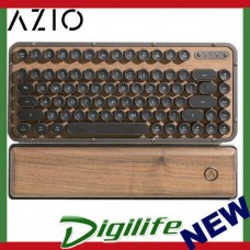 AZIO Elwood Retro Compact Keyboard Walnut Wood / Gunmetal Matte Frame