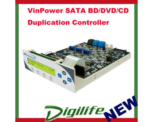 VinPower BD/DVD/CD SATA Duplication Controller 1 to 11 for Tower Duplicator