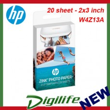 HP ZINK Sticky-backed Photo Paper - 20 sheet - 2x3 inch W4Z13A for Sprocket