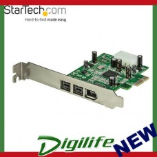 STARTECH 3 Port 2b 1a 1394 PCI Express FireWire Card Adapter PEX1394B3